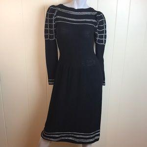 Vintage 80s/90s Neiman Marcus Black Sweater Dress